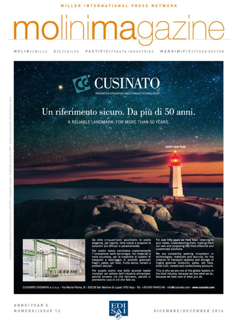 Cusinato on Molini Magazine – december 2016