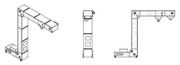 Elevatore a tazze modello Jolly