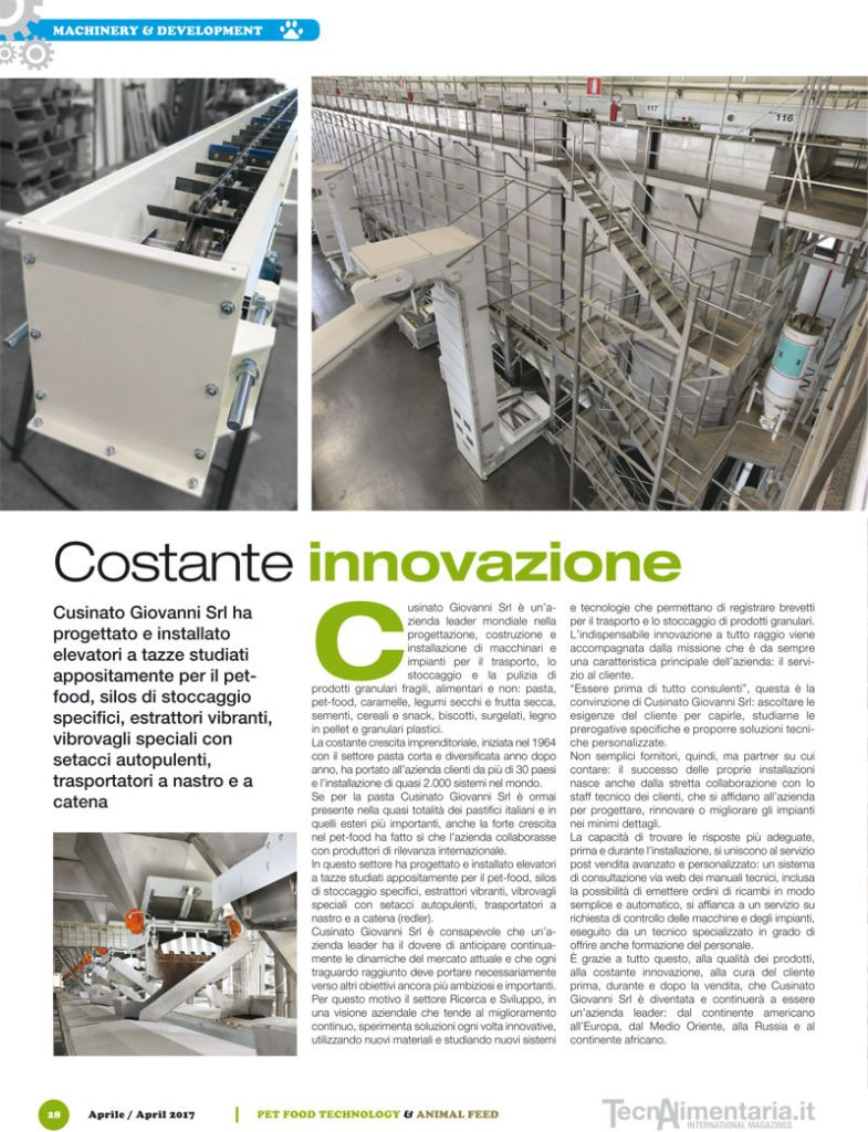 Cusinato animal feed technology